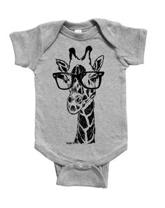 Giraffe Baby Bodysuit - Baby Shower Gift - New Mom Gift - Baby Girl One Piece - Baby Boy Clothes - Animal Print - Funny Baby Clothes Creeper Funny Baby Clothes, Funny Babies, Mom Outfits, Baby Boy Outfits, Baby Shower Giraffe, Baby Girl One Pieces, Gifts For New Moms, Baby Girl Gifts, Baby Bodysuit