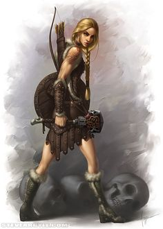 Shield Maiden. (Not sure if she is a warrior or rogue class character)