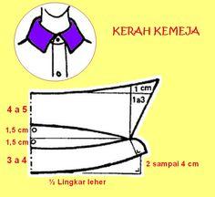 Kerah kemeja termasuk dalam salah satu bentuk kerah tegak, oleh karena itu dalam membuat polanya yang dibutuhkan bukan pola badan depan da...