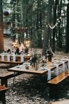 DIY  decor from this New England summer camp wedding reception at Wohelo | Image by Photo by Katie Harmsworth