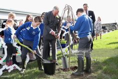 Prince Charles Meets School Children in Wales Taking Part in a Climate Change Education Programme