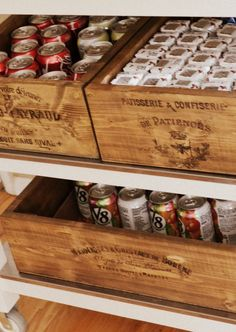 Homemade crates with graphics fairy transfer. Storage for under window seat or day bed Vintage Crates, Wooden Crates, Wooden Boxes, Diy Projects To Try, Wood Projects, Woodworking Projects, Craft Projects, Craft Ideas, Decorating Ideas