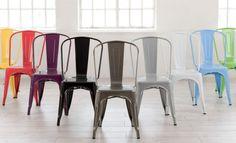 Salas decoradas com a famosa cadeira Tolix