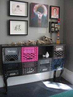 Teen bedroom idea  Repurposed ~ cool idea!