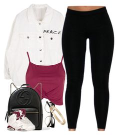 """""""Untitled #922"""" by cjasmyne on Polyvore featuring Topshop, Gucci and Cartier"""