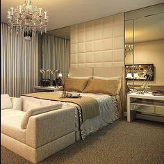 Elegant Interior Designs ∘・゚ Suite Master, Master Bedroom, Home Decor Bedroom, Modern Bedroom, Couple Room, Suites, Luxurious Bedrooms, Beautiful Bedrooms, New Room