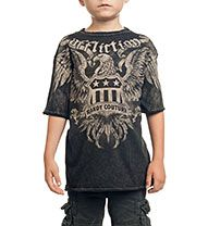 Affliction Official Store, AFFL-7559 COUTURE SERVICE SHORT SLEEVE TEE-YOUTH, afflictionclothing.com