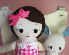 Classic Rag Doll Handmade cloth doll ragdoll by PalookaHandmade