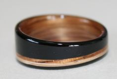Gabi's Blackwood, Koa and Oak wood ring.