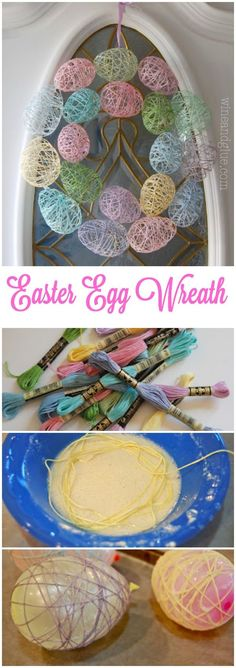 Fun DIY Easter Decorations - Decor Ideas for the Home and Table - Easter Egg Wreath - Cute Easter Wreaths, Cheap and Easy Dollar Store Crafts for Kids. Vintage and Rustic Centerpieces and Mantel Decorations. http:diy-easter-decorations Kids Crafts, Diy And Crafts, Arts And Crafts, Kids Diy, Easy Crafts, Decor Crafts, Rock Crafts, Homemade Crafts, Crafts For The Home