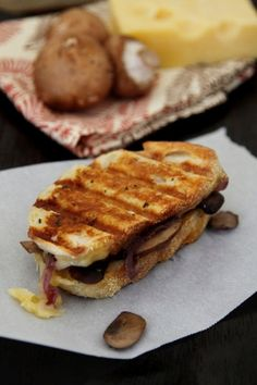 Caramelized Onion Mushroom and Swiss Panini - Perfect for leftover Thanksgiving ingredients.