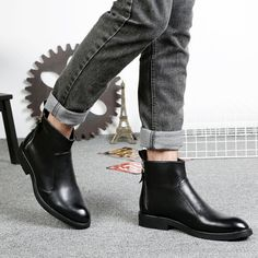 New Fashion Mens Soft Split Leather Chelsea Ankle Boots Man British Style Boots Shoes Ankle Boots Men, Chelsea Ankle Boots, Men's Boots, Shoe Boots, British Style, New Fashion, Oxford Shoes, Dress Shoes, Leather