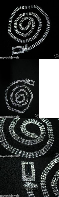 Body Chains 98526: Silver Pt. Belt Belly Chain Rhinestone Crystal 3 Line Body Jewelry Belly Dance -> BUY IT NOW ONLY: $38.99 on eBay!