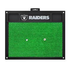 NFL Oakland Raiders 17 in. x 20 in. Golf Hitting Mat