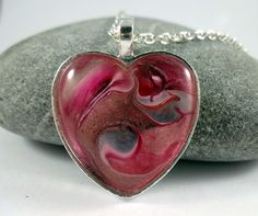Dreamy Pink Heart Necklace by ShineOnShopUK on Etsy
