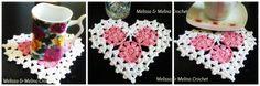 Dessous de verre Coeur N°2 au crochet