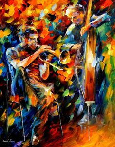 The Colors of jazz in shades of pastel! Artwork that seems to emanate light is one of my favorite things to see an artist capture.