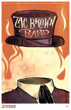 Zac Brown Band Tour Posters 2014  sc 1 st  Pinterest & Zac Brown Band Tour Posters 2014 | My Work | Pinterest | Zac brown ...