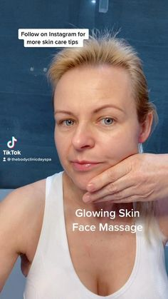 Yoga Facial, Face Yoga Exercises, Face Massage, Massage Techniques, Face Skin Care, Tips Belleza, Yoga For Face, Clear Skin, Glowing Skin