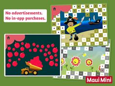 Maui Mini App Educational Games- A great and fun way for small children to develop their motor skills.