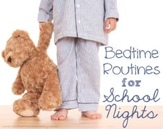 Ideas and tips for bedtime routines for school kids