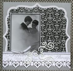 wedding scrapbook layouts ideas | Wedding Layouts and Cards