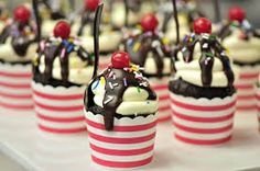 Image result for chocolate sundae cupcakes