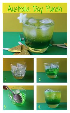 Australia Day Punch Recipe - A fun non alcoholic drink for the little nippers at your Australian day celebrations.