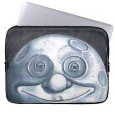 Laptop Case HAPPY MOON Laptop Shop, Laptop Case, Neoprene Laptop Sleeve, Laptop Sleeves, Moon Under Water, Custom Laptop, Sticker Shop, Blue Moon, Business Supplies