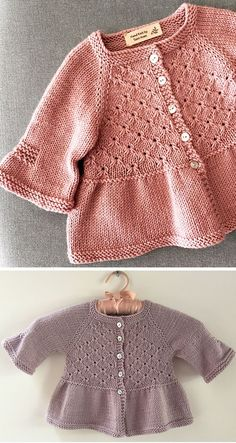 Alouette - Strickanleitung - Free Knitting Patterns - Diy and crafts interests Baby Cardigan Knitting Pattern Free, Baby Boy Knitting Patterns, Baby Sweater Patterns, Fair Isle Knitting Patterns, Baby Shoes Pattern, Knitting For Kids, Baby Patterns, Knitting Designs, Free Knitting
