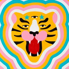 Start an eye-candy journey through art and illustration with the tiger as the main character. Tiger Illustration, Mermaid Illustration, Graphic Design Illustration, Astronaut Illustration, Illustration Flower, Family Illustration, House Illustration, Digital Illustration, Arte Latina