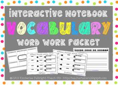 Interactive Notebook Vocabulary Packet