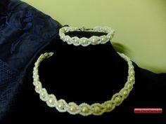 CherryCharm's Luchie Jewelry Set - Unique handcrafted Bracelets, Necklaces, Pearls and Gift Ideas Beauty Makeup, Hair Makeup, Bracelet Set, Jewelry Sets, Pearl Necklace, Crochet Necklace, Pearls, My Style, Unique