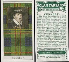 From Walter Scott's Black & White Tartan Design to Famous Scottish Clans Tartans Card Set