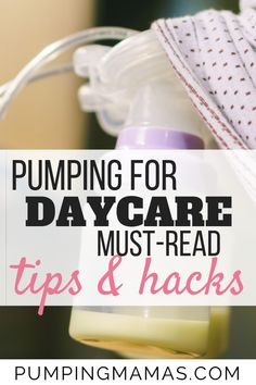 Do you have a plan to pump for daycare? If you are a breastfeeding and working mom, you need to have a plan for when your maternity leave is over. Pumping And Breastfeeding Schedule, Pumping Schedule, Newborn Schedule, Breastfeeding Bottles, Breastfeeding Foods, Breastfeeding Problems, Pumping Bag, Pumping At Work, Bottle Feeding Breastmilk