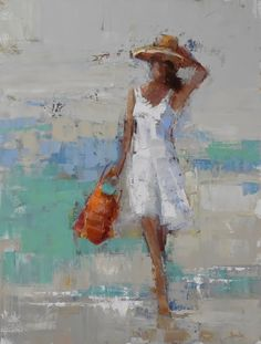 "Barbara Flowers, ""Easy Day"" - Oil on Canvas - at Principle Gallery Charleston Painting People, Figure Painting, Art Folder, Portrait Art, Beautiful Paintings, Figurative Art, Painting Inspiration, Female Art, Art Drawings"