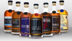 Balcones Expressions: Single Malt, Brimstone, True Blue 100, Rumble Cask Reserve, True Blue, Rumble, and Baby Blue