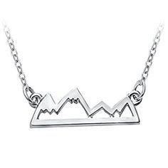 Mountain Necklace Jewelry For Avid Outdoor Lovers, Hikers, Skiers, Snowboarders, Climbing Enthusiasts by David Accessories -- Awesome products selected by Anna Churchill