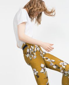 Image 3 of WATERCOLOR PRINT TROUSERS from Zara