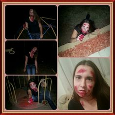 Made my little sis into a zombie
