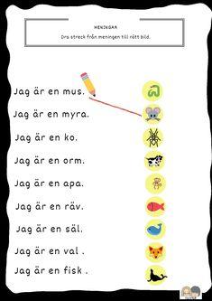 Learn Swedish, Swedish Language, Teaching, Writing, Education, School, Kids, Exercises, First Grade