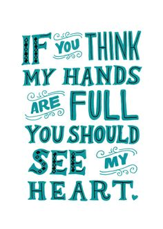 Full Hands Full Heart 5x7 Art Print by ellolovey on Etsy