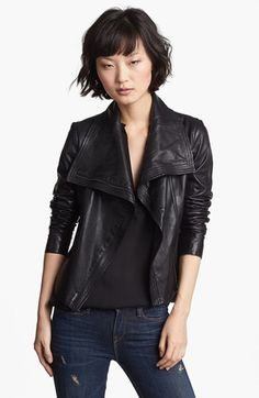 Vince Crop Leather Moto Jacket - for when I am ready to upgrade from my knock-off :)