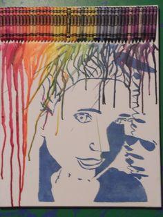 Self portrait/crayon art