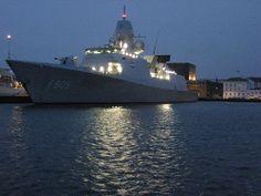 """Dutch Naval Vessel """"HNLMS Evertsen"""" in Copenhagen Harbour"""