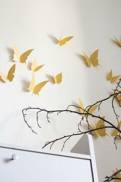 papillons décoration butterfly déco murale TRENDY LITTLE 3