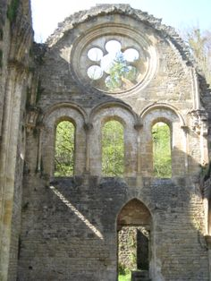 Ruins of the abbey l'Abbaye d'Orval, built in the 1100s, in Orval, Luxembourg province, Belgium. Brewery and monastery, where a young Trappist is being brewed (only since the 1930s) and the Herve cheese is being made.
