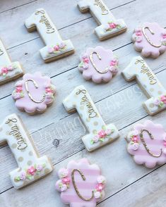 Floral 1st birthday set by Raining Cookies