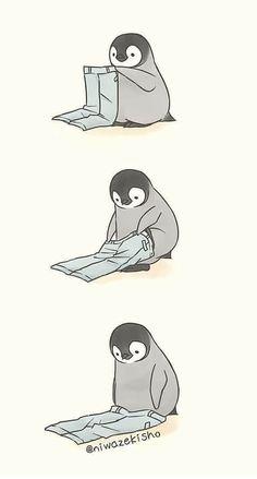 Bilderparade DXLI - 100 absolute Hingucker - Welcome! Cute Animal Drawings, Kawaii Drawings, Cartoon Drawings, Cute Drawings, Penguin Drawing, Penguin Art, Flamingo Illustration, Simple Illustration, Pinguin Tattoo
