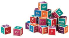 Periodic Table Building Blocks    Sure, learning their ABCs is an important place for any kid to start their academic career. But once they've nailed A through Z they'll want to move onto something more challenging. Like building blocks featuring all the elements on the Periodic Table and their chemical symbols. It encourages both a love for chemistry and architecture as they build elaborate castles or complicated compounds. $40    [www.amazon.com]